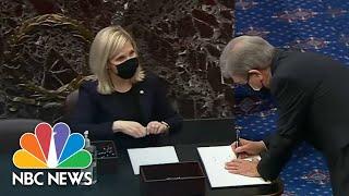 Senators Sworn In For Trump's Second Impeachment Trial | NBC Nightly News