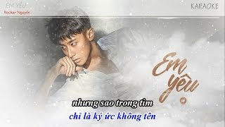 [Karaoke - Lyrics] Em Yêu - Rocker Nguyễn