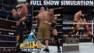 WWE 2K16 SIMULATION: Wrestlemania 29 Full Show Highlights