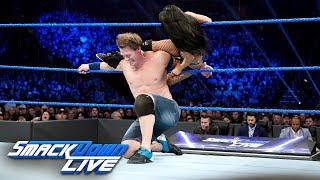 "John Cena & Becky Lynch vs. Andrade ""Cien"" Almas & Zelina Vega: SmackDown LIVE, Jan. 1, 2019"