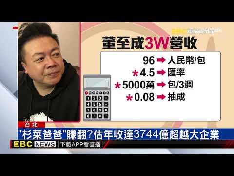 董至成賣貢丸 宣稱三週狂賺17億