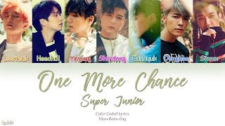 Super Junior (슈퍼주니어) – One More Chance (비처럼 가지마요) (Color Coded Lyrics) [Han/Rom/Eng]