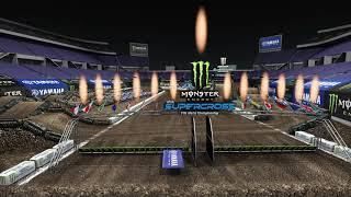 2021 Supercross Round 7 Yamaha Animated Track Map