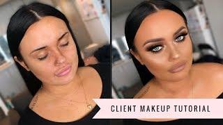 Gold and Bronze Client Makeup Tutorial | MakeupwithJah