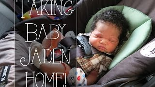 Taking Baby Jaden Home! - Roodianne Daily Vlog // 8.31.15