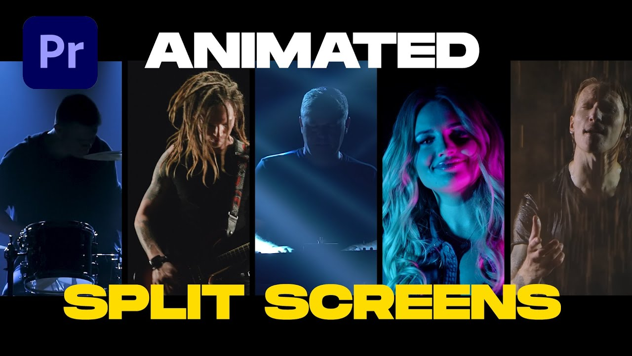 How to Make Animated Split Screens in Premiere Pro (10 Split Screens Template)