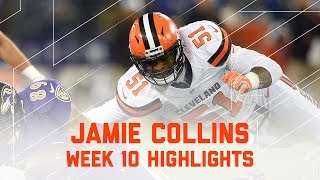 Jamie Collins Racks Up 9 Tackles & 1 Sack | Browns vs. Ravens | NFL Week 10 Player Highlights
