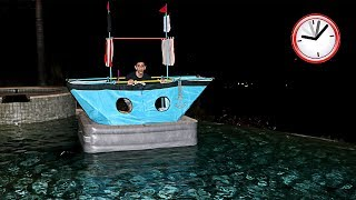 SCARY OVERNIGHT CHALLENGE ALONE IN A BOAT!! (WTF) | FaZe Rug