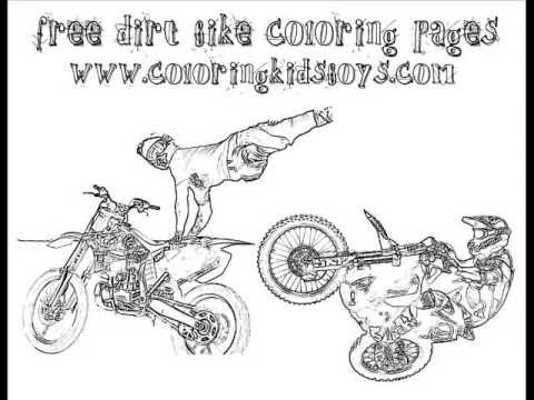 ColoringBuddyMike: Dirt Bike Coloring Pages - YouTube