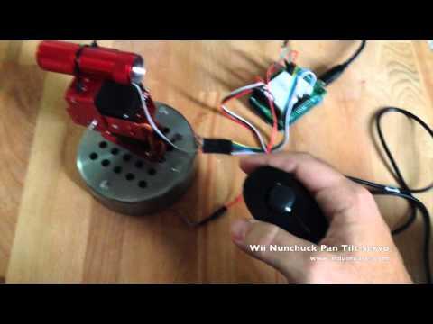Arduino Tutorial - Wii Nunchick Pan Tilt Servo