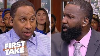 Stephen A. debates Kendrick Perkins about the Warriors' handling of KD's injury | First Take