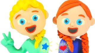 FROZEN ELSA & ANNA NEW TATTOOS ❤ Spiderman, Hulk & Frozen Elsa Play Doh Cartoons For Kids