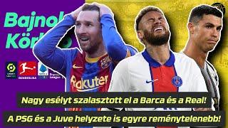 Nagy esélyt szalasztott el a Barca és a Real! A PSG és a Juve helyzete is egyre reménytelenebb!