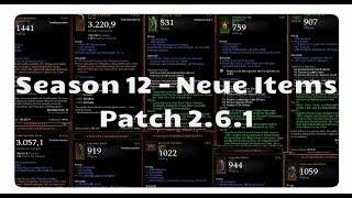 Patch 2.6.1: Alle neuen Items für Season 12