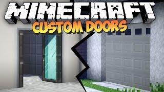 Minecraft: CUSTOM DOORS MOD - Malisis Doors Mod Showcase