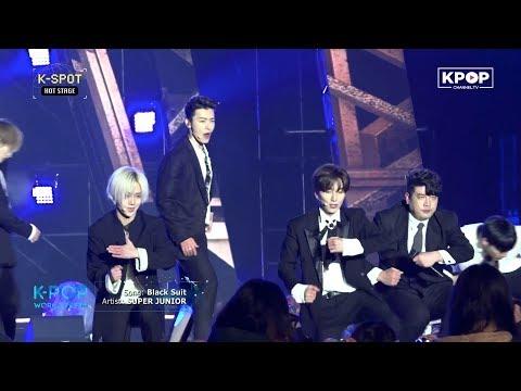 SUPER JUNIOR - Black Suit at K-POP World Festa 180224 #PyeongChang2018