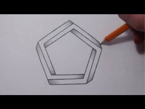 drawing impossible shapes optical illusions youtube. Black Bedroom Furniture Sets. Home Design Ideas