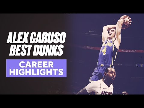 Alex Caruso's Best Dunks   Career Highlights