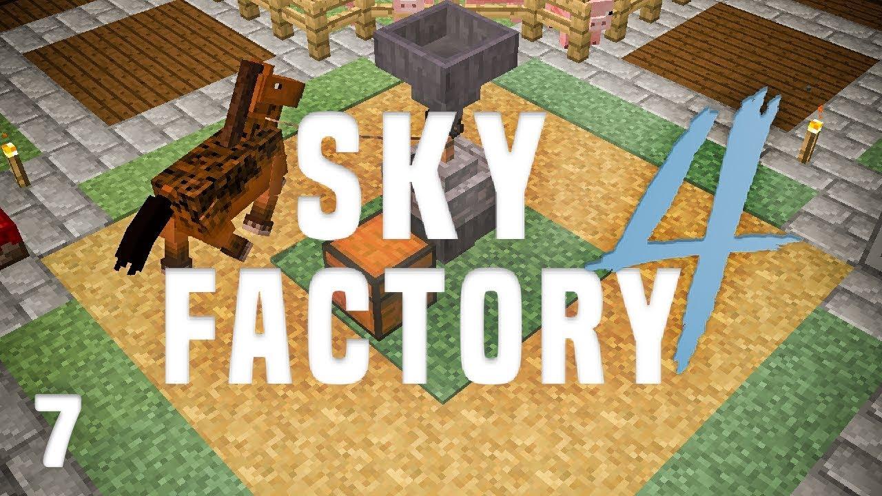 SkyFactory 4 Ep  7 Alloy Tank + Horse Power