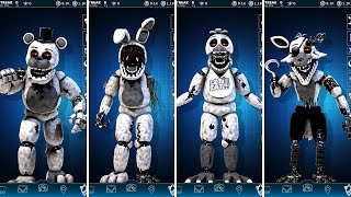 FNAF AR 4th Closet Withered Animatronics Jumpscare & Workshop Animations