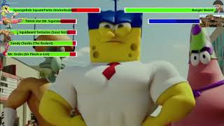 The SpongeBob Movie: Sponge Out of Water Final Battle with healthbars