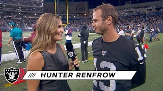 "Hunter Renfrow on QB Derek Carr: ""You want to play the best you can for him"" 