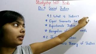 Class 11th Political Theory Ch-4(Part-1)||Social Justice