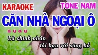 Karaoke Căn Nhà Ngoại Ô | Nhạc Sống Tone Nam Dễ Hát | Mai Thảo Organ