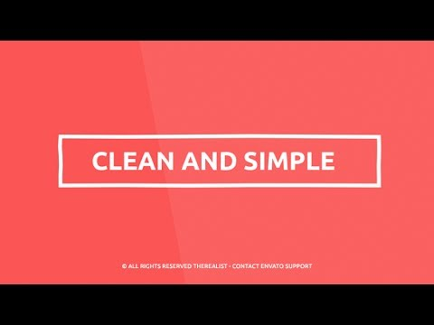 After Effects Template - Minimal Kinetic Typography - Quick Business