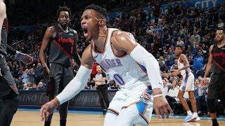 Paul George 36 Pts! Westbrook Huge Slams vs Blazers! 2018-19 NBA Season