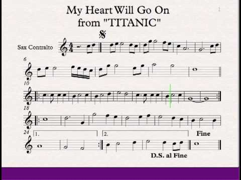 My Heart Will Go On - Titanic - Alto Saxophone