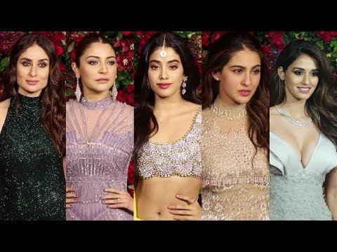 Bollywood Actresses At Deepika Padukone And Ranveer Singh Wedding Reception