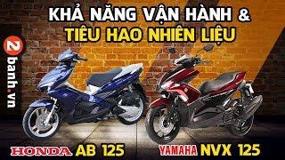 So sánh NVX 125 và Air Blade 125 Về mức tiêu hao nhiên liệu vận hành