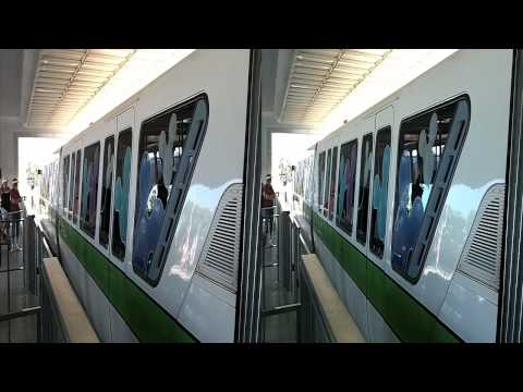Disney World Monorail Green in 3D (yt3d:enable=true)