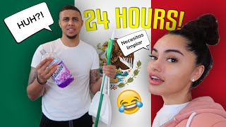 Speaking ONLY SPANISH TO MY BOYFRIEND FOR 24 HOURS!