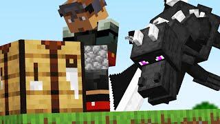 Minecraft but a RANDOM Mob Spawns everytime you Craft
