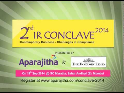 2014- Promo Aparajitha presents 2nd IR Conclave 2014 in association with Economic Times