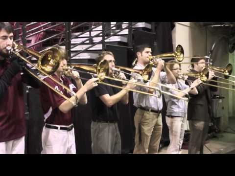 This was a fun event I did.  The Lamont Trombone Choir played at a DU hockey game.  Tons of fun!