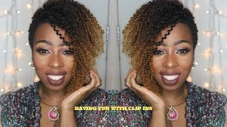 Natural hair Clip Ins | Switch up the look for a TWA| Tapered cut