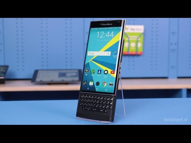 Belsimpel.nl-productvideo voor de BlackBerry Priv Black