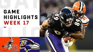 Browns vs. Ravens Week 17 Highlights | NFL 2018