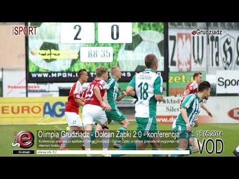 Olimpia Grudziądz - Dolcan Żąbki 2:0 - konferencja