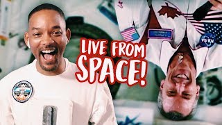 Will Smith calls THE SPACE STATION!!