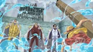 One Piece Epic Moment : Luffy jumped to the plaza.
