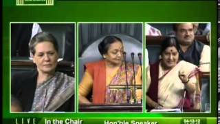 Sushma Swaraj answer to Sonia Gandhi