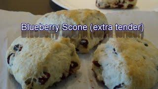 Blueberry Scone (4 pieces recipe)