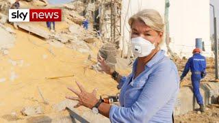 Inside the Beirut blast site