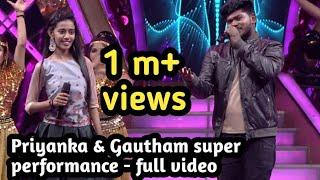 Supersinger Priyanka & gautham | feast before finals | super performance