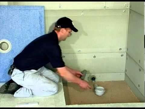 montage duschelement f r begehbare dusche youtube. Black Bedroom Furniture Sets. Home Design Ideas