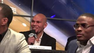 John Molina Jr Kid Chocolate AT PBC On FOX Presser EsNews Boxing